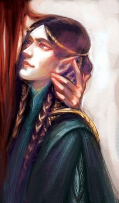Fingon by luaen.tumblr.com << look how he stares at Maedhros, awww!!!