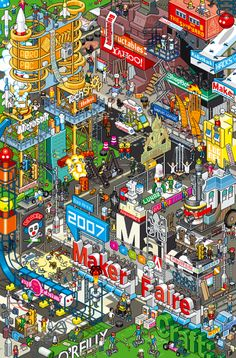 If you are a fan of Waldo, then these pixel art illustrations will appeal to you! They are so detailed and very cool!   EBoy rocks!