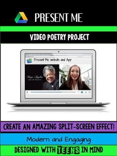 Engage your students with the Present Me Digital Poetry Project!   Students select a poem, illustrate it with images in Google Slides, and record themselves reading the poem while showcasing their slide presentation.  The free user-friendly Present Me web