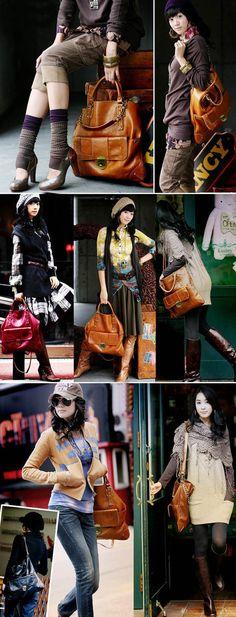 Cute tote from 2 years ago, still like it Soft Leather Handbags, Vogue, Big Bags, Nylon Bag, Korean Women, Wholesale Fashion, Fashion Looks, Style Inspiration, Tote Bag