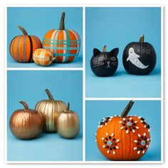 No-carve pumpkin decorating ideas for Halloween.