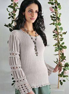 Серый пуловер с красивыми рукавами. Обсуждение на LiveInternet - Российский Сервис Онлайн-Дневников
