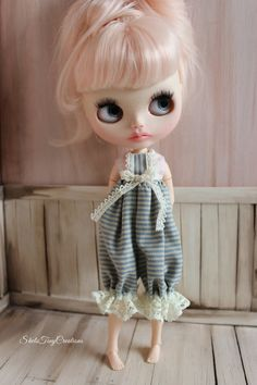 RESERVED For L   E - Vintage Style Romper For Blythe - Antique Blythe  outfit 32f0b5b3be0b