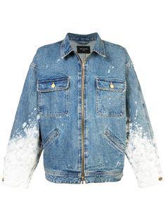 Shop Fear Of God painted sleeves denim jacket . Demin Jacket 2b283607e5d