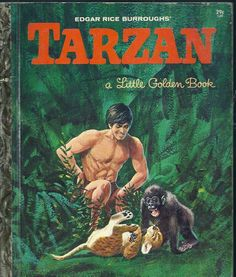 "VINTAGE 1960's Children's Little Golden Book~TARZAN 1st Edition! (""A"")"
