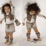 Kız Bebeklere Örgü Elbise Modelleri 202