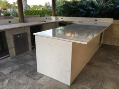 Calacatta Countertops And Waterfall. Visit Our Website And Get More Ideas  Of Vanity And Kitchens With Calacatta Quartz. Click Gallery And Kitchen Or  Vanity. ...