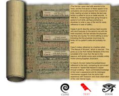 Ancient Egyptian Smith Papyrus from 17th century BC. This is a medical text with instructions on treatment of 48 trauma surgery cases. Among these cases, copper is recommended for the treatment of open wounds. #Innovation #EOScu #PreventiveBiocidalSurfaces
