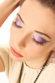 Augen Make Up Mit Lila Und Orange Lidschatten » Kosmetik » Galerie » FriseurModelle.de