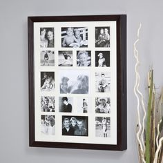 Collage Photo Frame Wooden Wall Locking Jewelry Armoire - 23W x 30H x 3.5D in. - Jewelry Armoires at Hayneedle