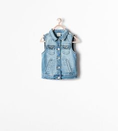 BASIC DENIM WAISTCOAT from Zara