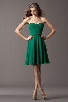 Sweetheart Princess Short Bridesmaid Dresses Hunter Color CAD 77.55 VPAP35HL9 - VoguePromDresses