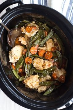 Healthy Crockpot Freezer Meals Crockpot Ginger Chicken with Snow Peas. Make-Ahead Freezer Prep Crock-pot Meal Recipes. Healthy Recipes for your Slow Cooker Healthy Freezer Meals, Make Ahead Meals, Freezer Cooking, Crock Pot Cooking, Healthy Crockpot Recipes, Healthy Crockpot Freezer Meals, Meal Prep Grocery List, Healthy Eating Grocery List, Crockpot Ideas