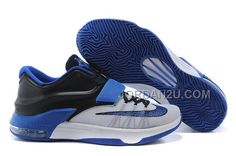 http://www.jordan2u.com/nike-kd-7-basketball-shoes-whiteblackroyal-blue.html Only$102.00 #NIKE KD 7 BASKETBALL #SHOES WHITE-BLACK/ROYAL BLUE #Free #Shipping!