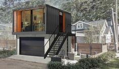 http://www.honomobo.com/ Edmonton, Alberta, Canada company building garage suites from shipping containers