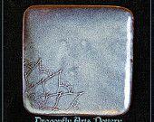 Henna Plate - Handmade Stoneware - Pottery - Dessert Plate