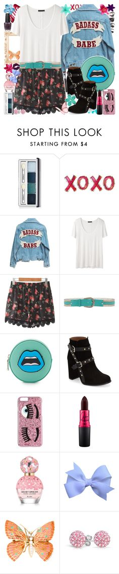 """""""Badass Babe <33"""" by luvmrb61899 ❤ liked on Polyvore featuring Clinique, The Row, Nanni, Yazbukey, Topshop, Chiara Ferragni, OPI, Marc Jacobs, Bling Jewelry and Bare Escentuals"""