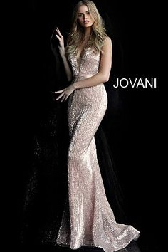 701f116b41 Champagne Fitted Sequin Prom Dress 62507