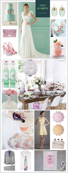 Sorbet-hued wedding inspiration - love how pretty this colour combo is!