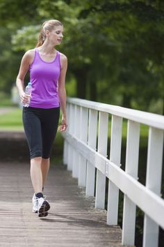Alternate between 5 minutes moderate walking and 5 minutes brisk walking on this cardio walk to get in shape and lose weight.
