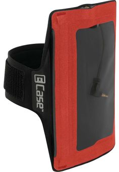 """E-Case iPod/iPhone Armband Case, Mandarin Red. Integrated, waterproof 4-pole headphone jack works with headphone wire controls. High-clarity, touchscreen-compatible window allows full use of device inside. Ultra-smooth nylon over lightweight, neoprene cushion band (Fits biceps 10"""" to 14.2"""" around). One-step, waterproof SealLock zipper, plus rugged RF-welded seams. Individually tested to meet IPX7 standard-withstands submersion in 1 meter of water for 30 minutes."""