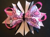 Pink and black Hello Kitty hair bow $7.50