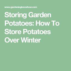 Storing Garden Potatoes: How To Store Potatoes Over Winter