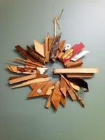 #scrap #wood #wreath. Love!