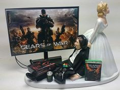 Gears of War Wedding Cake Topper