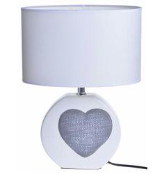 Lampa ceramiczna z szarym sercem