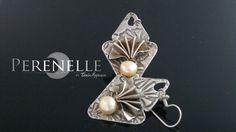 Recuerdos de una Geisha  Artista: Tania Marzuca Rivero. Arcilla de plata Art Clay Silver, Papel de Plata Art Clay Silver y perlas cultivadas, Plata pura 99.9%