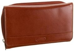 Leatherbay Women's Elegant Shopping Wallet,Cognac,one size Leatherbay. $51.17. Rich aniline veg tanning done to bring the natural characteristics of leather. Luxurious full grain natural cow leather. leather. 13 credit card slots with lots of room to hold more. Flip top construction for easy access to credit cards. 2 transparent ID windows