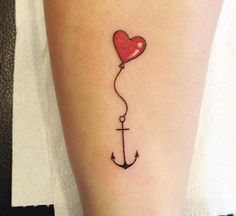 Tattoo for girls:heart Tattoo collection Little Tattoos, Mini Tattoos, Dope Tattoos, Unique Tattoos, Bipolar Tattoo, Anchor Tattoos, Anchor With Heart Tattoo, Tattoo Collection, Girls Heart