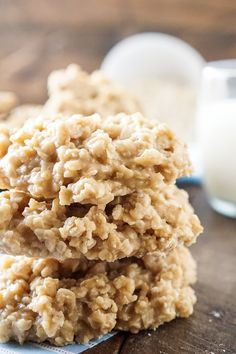 Peanut Butter No Bake Cookies - Sugar & Soul