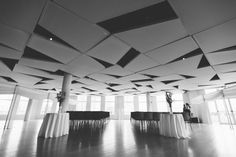 Wedding ceremony area at the Maritime Parc in Jersey City, NJ. Captured by NYC wedding photographer Ben Lau.