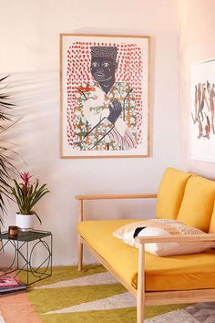 Inspiring Yellow Sofas To Perfect Living Room Color Schemes 145 - DecOMG Living Room Tv Wall, Living Room Decor, Bedroom Decor, Bedroom Ideas, Room Colors, House Colors, Wall Colors, Colorful Apartment, Yellow Sofa