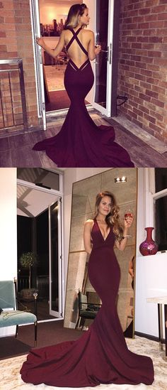 burgundy homecoming dress, 2017 homecoming dress, mermaid long homecoming dress, formal evening dress
