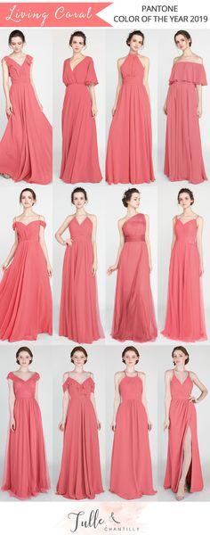 7ec93010e9 Las 36 mejores imágenes de Vestidos color Coral