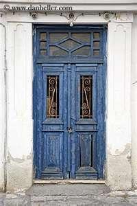 The blue door...