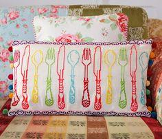 Framed Colourful Cutlery