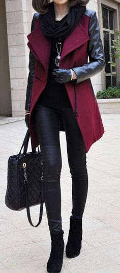 34 Cute and Fashionable Outfits in Burgundy