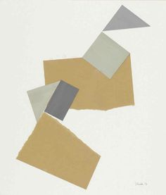 """Gerardo Rueda [Spain] (1926 - 1996)  ~  """"Untitled, from """"thalasso"""" series"""", 1926. Collage (47 x 40 cm).  
