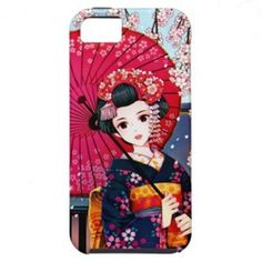 Geisha in Spring Time iPhone 5 Case #iPhone #geisha #spring #case #japan #japanese #manga #anime #iPhone5 #spring #beauty #lady #girly