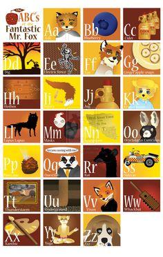 The ABC's of the Fantastic Mr. Fox by ~Chubby-Cherub on deviantART