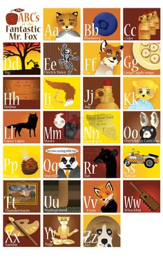 The ABC's of the Fantastic Mr. Fox by ~Chubby-Cherub on deviantART