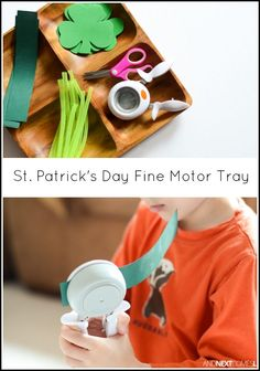 St. Patrick's Day fine motor activity for kids from And Next Comes L