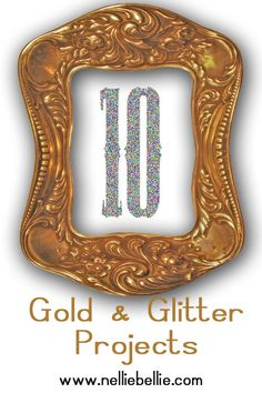 10 Gold and Glitter projects that are easy to make! So Creative, Creative Crafts, Easy Crafts, Crafts For Kids, Arts And Crafts, Glitter Projects, Fun Projects, Craft Art, Craft Ideas
