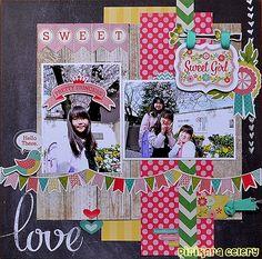#papercraft #scrapbook #layout.  sweet girl - Scrapbook.com