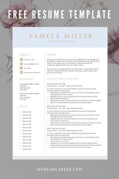Free Resume Template for Word ---CLICK IMAGE FOR MORE--- resume how to write a resume resume tips resume examples for student Resume Writing Tips, Resume Skills, Resume Tips, Resume Ideas, Cv Ideas, Cv Tips, Basic Resume, Resume Layout, Simple Resume