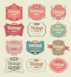 Vintage Badges and Label Vector Set  #GraphicRiver
